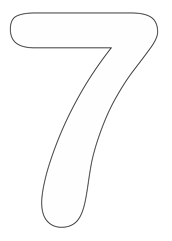 7 coloring sheet numbers to color coloring pages coloring 7 sheet