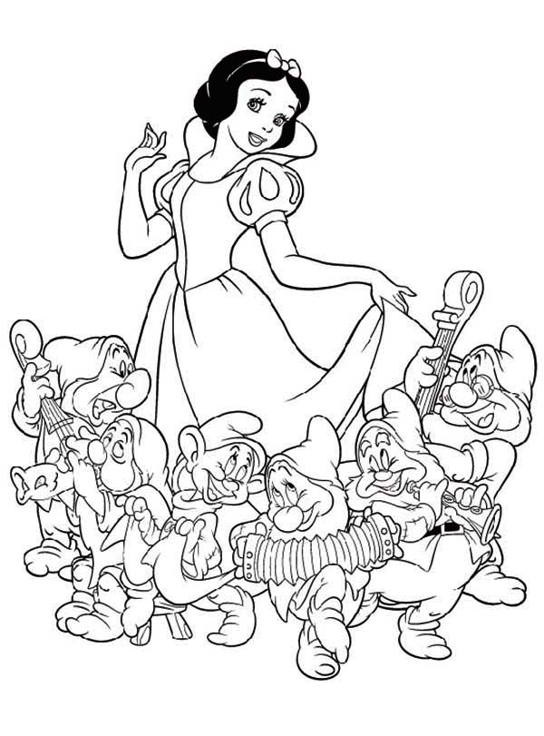 7 dwarfs colouring pages printable and download snow white and the seven dwarfs pages dwarfs 7 colouring