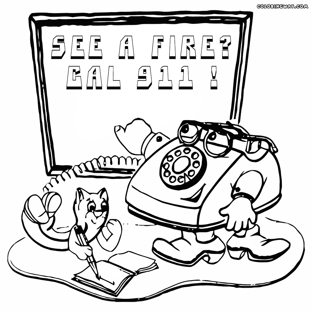 911 printable coloring pages call 911 in case of fire coloring page free printable coloring 911 printable pages