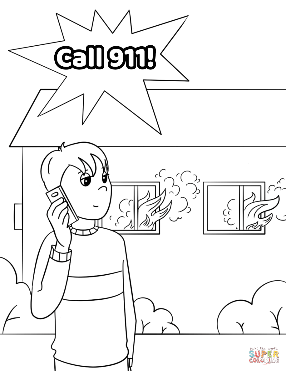 911 printable coloring pages calling 911 worksheet educationcom printable 911 pages coloring