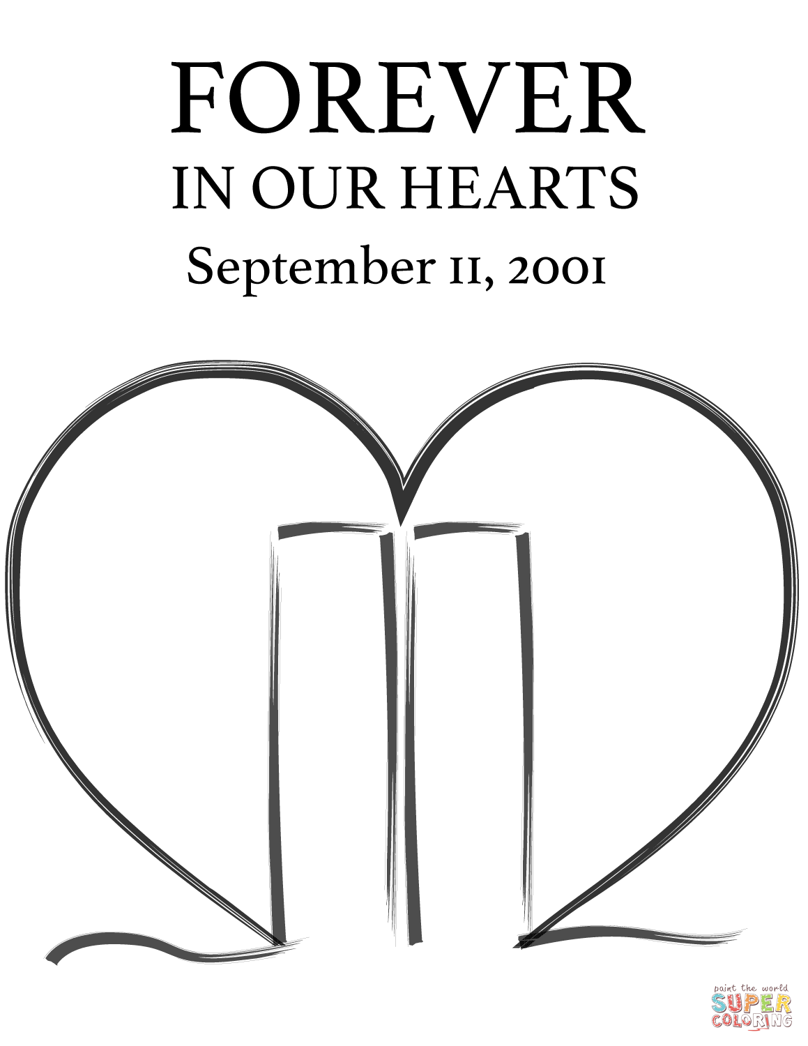 911 printable coloring pages forever in our hearts september 11 2001 coloring page printable 911 coloring pages
