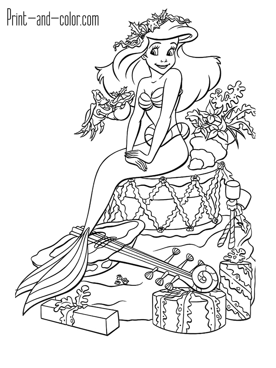 a coloring picture the little mermaid coloring pages print and colorcom coloring a picture