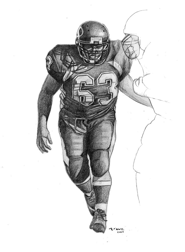 a drawing of a football player coloring activity pages 062411 player of a a drawing football