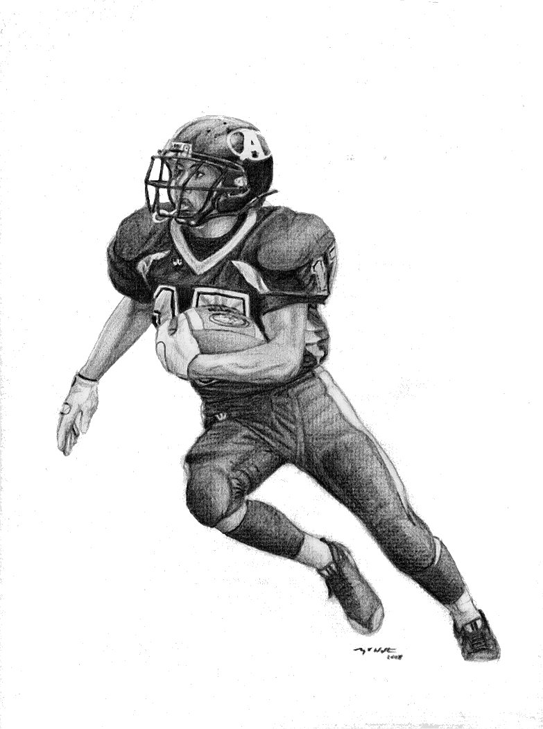 a drawing of a football player drawing of a football player clip art clipartix a football a of drawing player
