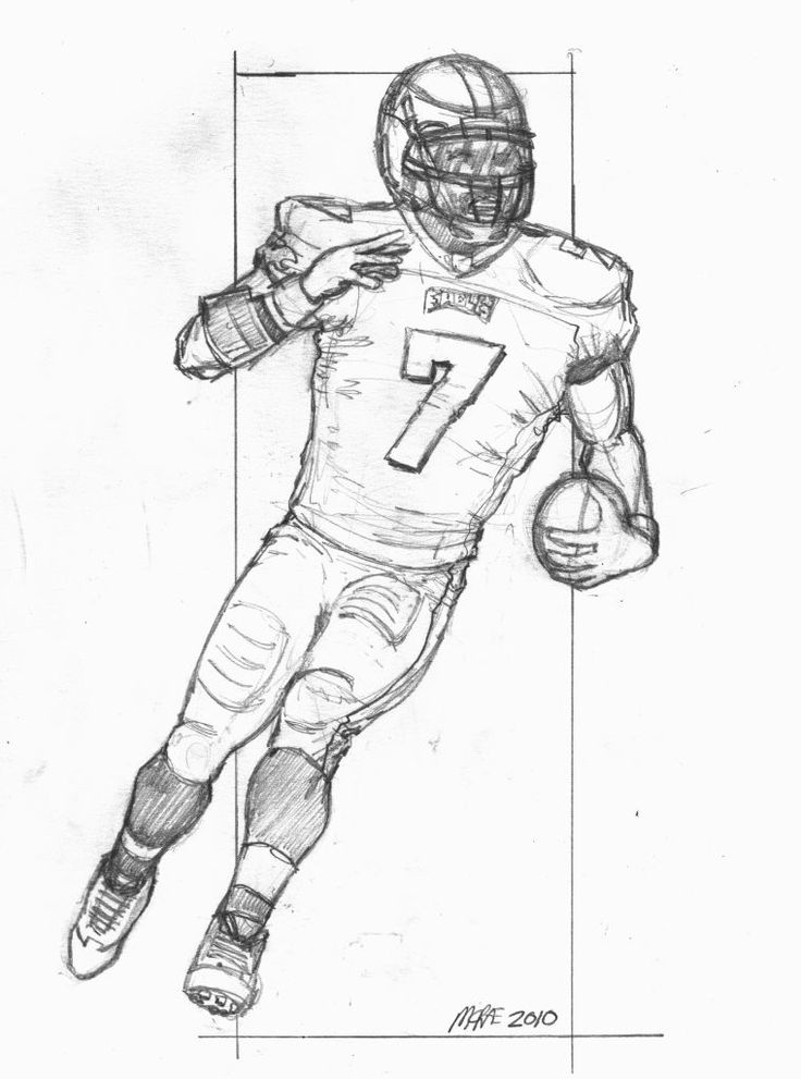 a drawing of a football player drawings football players free download on clipartmag of a drawing player football a
