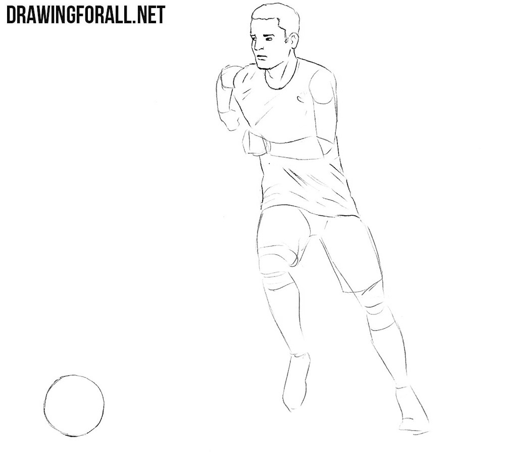 a drawing of a football player fantasista on illustration served football art football of player football a a drawing