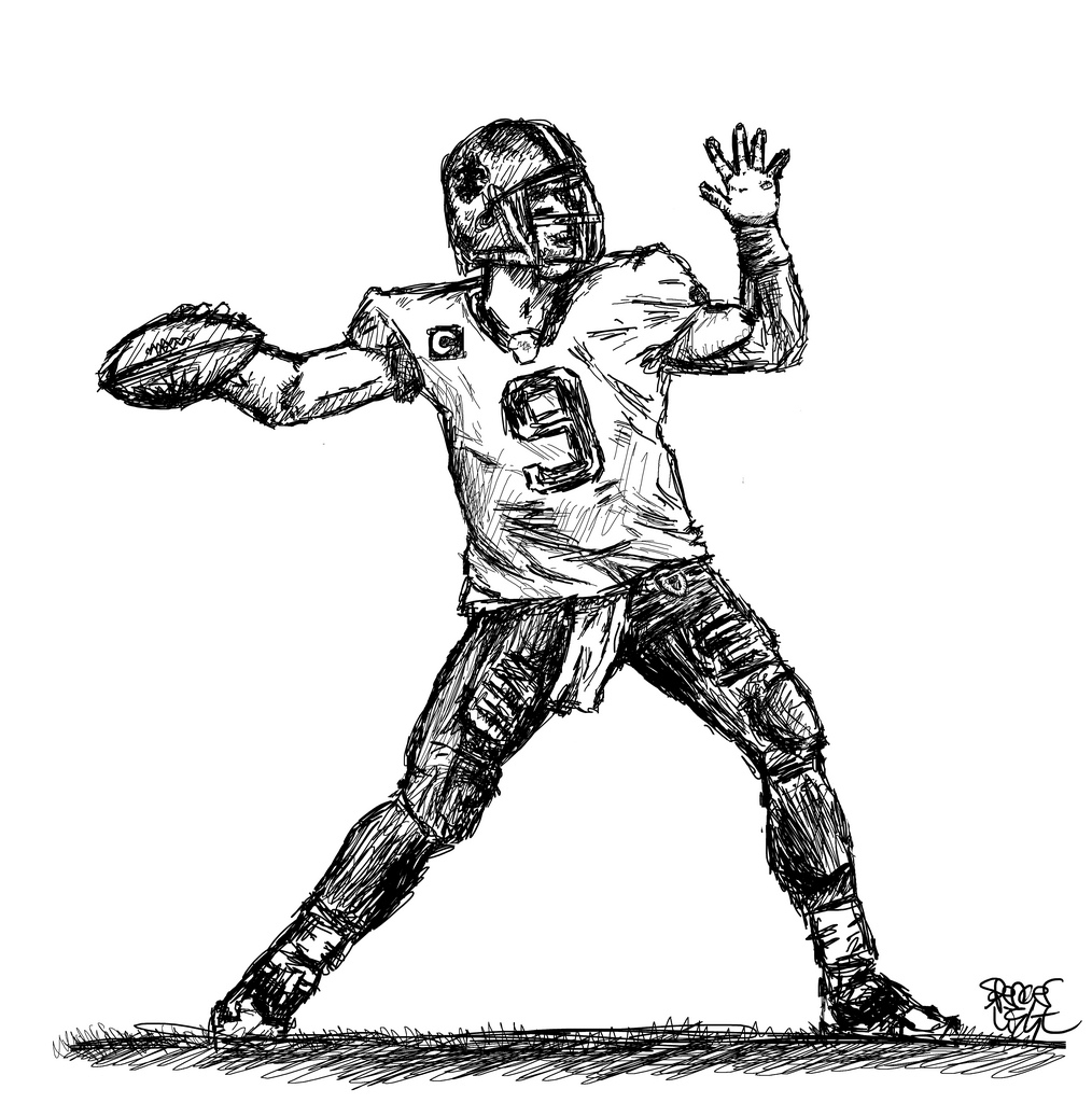 a drawing of a football player football coloring pages football coloring pages and football a a player of drawing