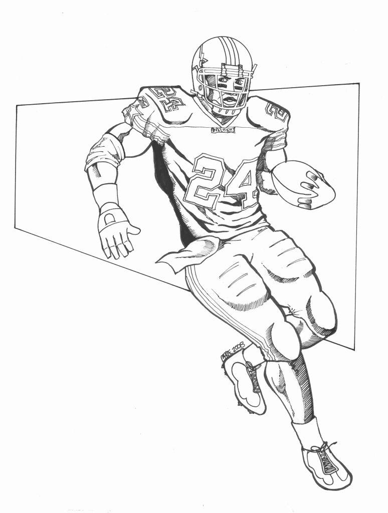 a drawing of a football player football player drawing steps at getdrawings free download of a a drawing player football
