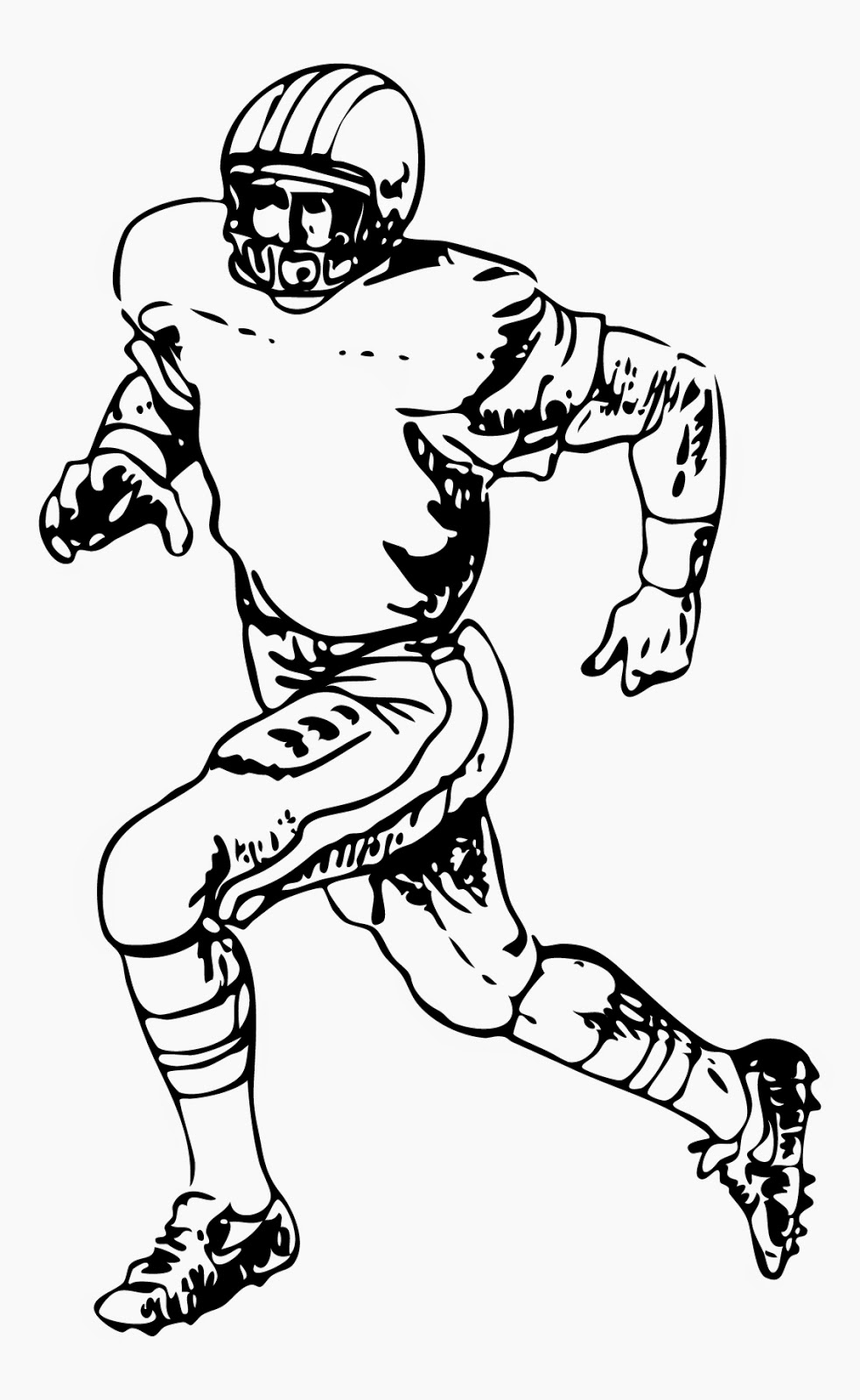 a drawing of a football player football player sketch by nikew on deviantart drawing of player a a football