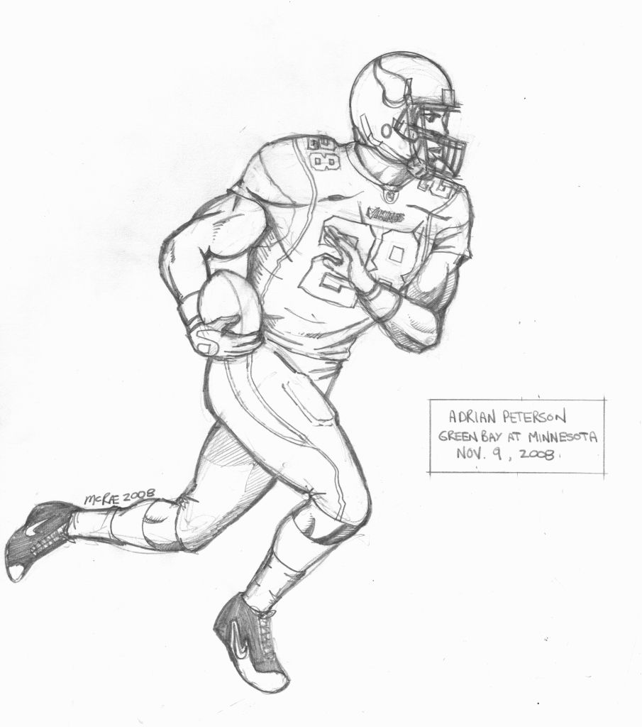 a drawing of a football player football players in action clip art library a player a drawing of football