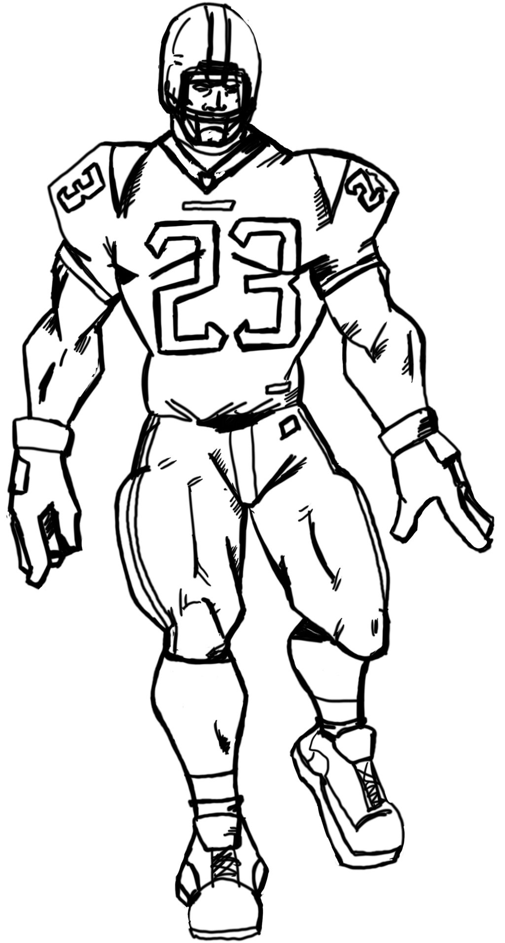a drawing of a football player how to draw a football player drawingforallnet drawing football a player of a