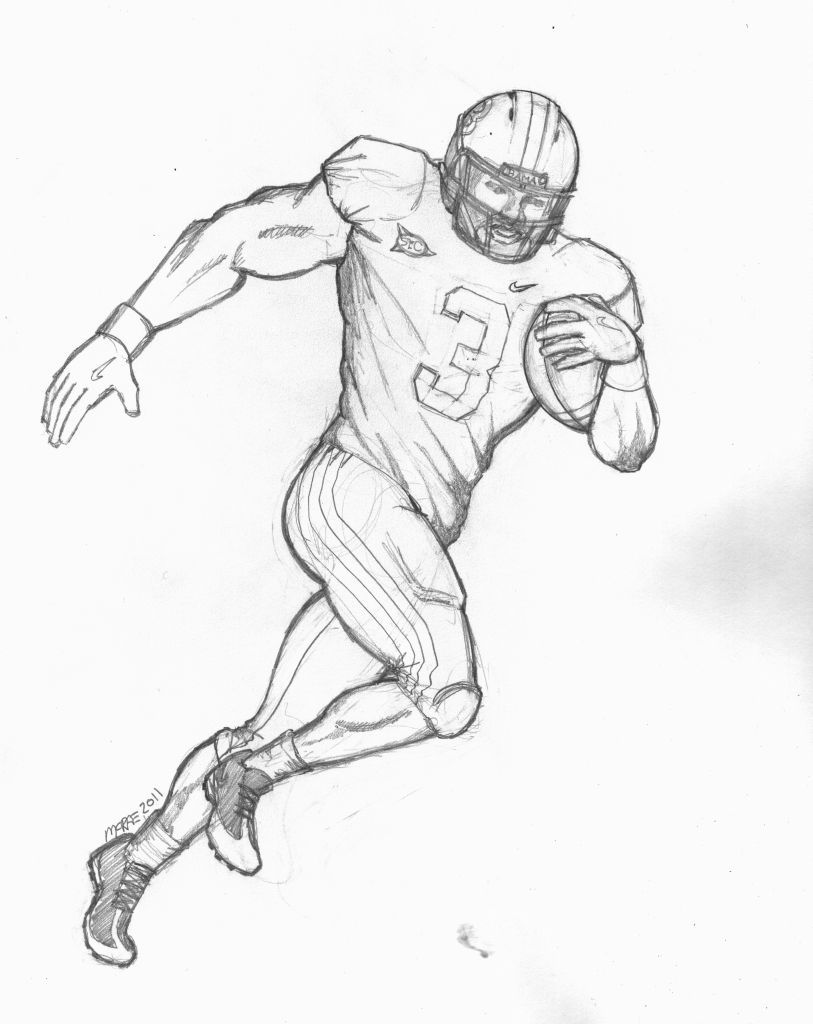 a drawing of a football player images of football player clipartsco football a of player a drawing