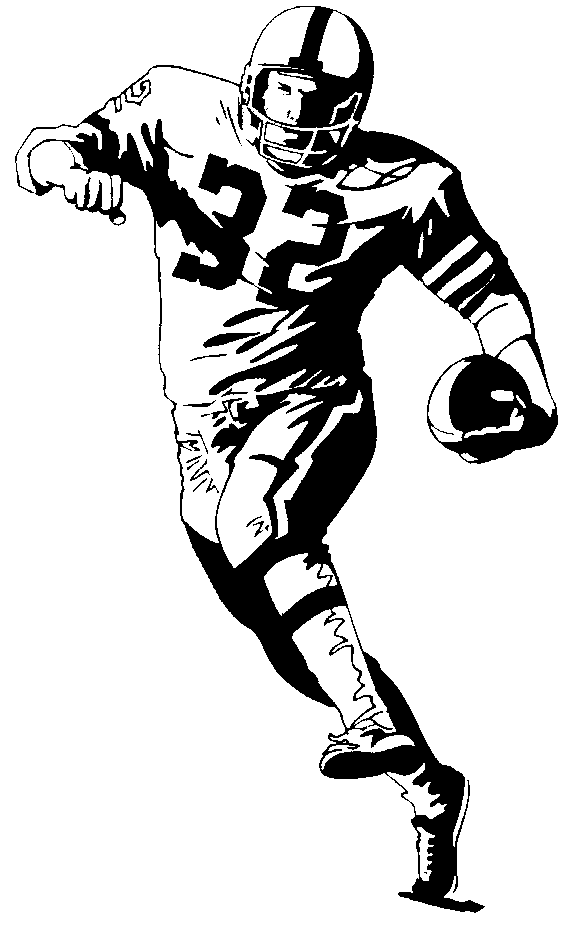 a drawing of a football player realistic football player drawing clip art library football player drawing a of a