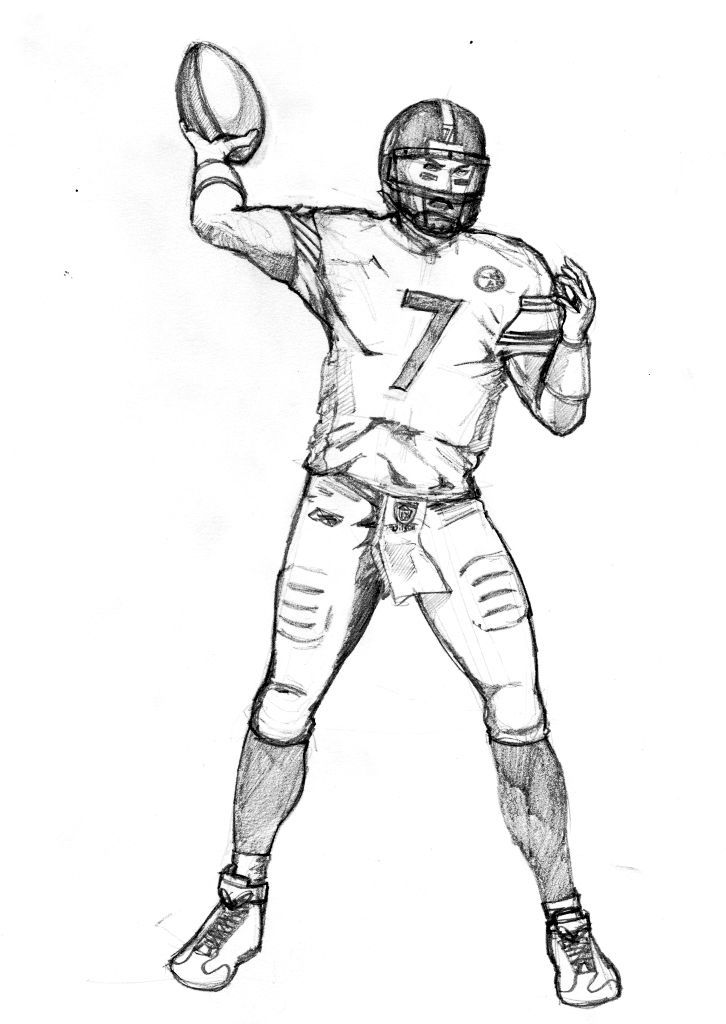 a drawing of a football player soccer cartoon playing football coloring page football a of player football drawing a