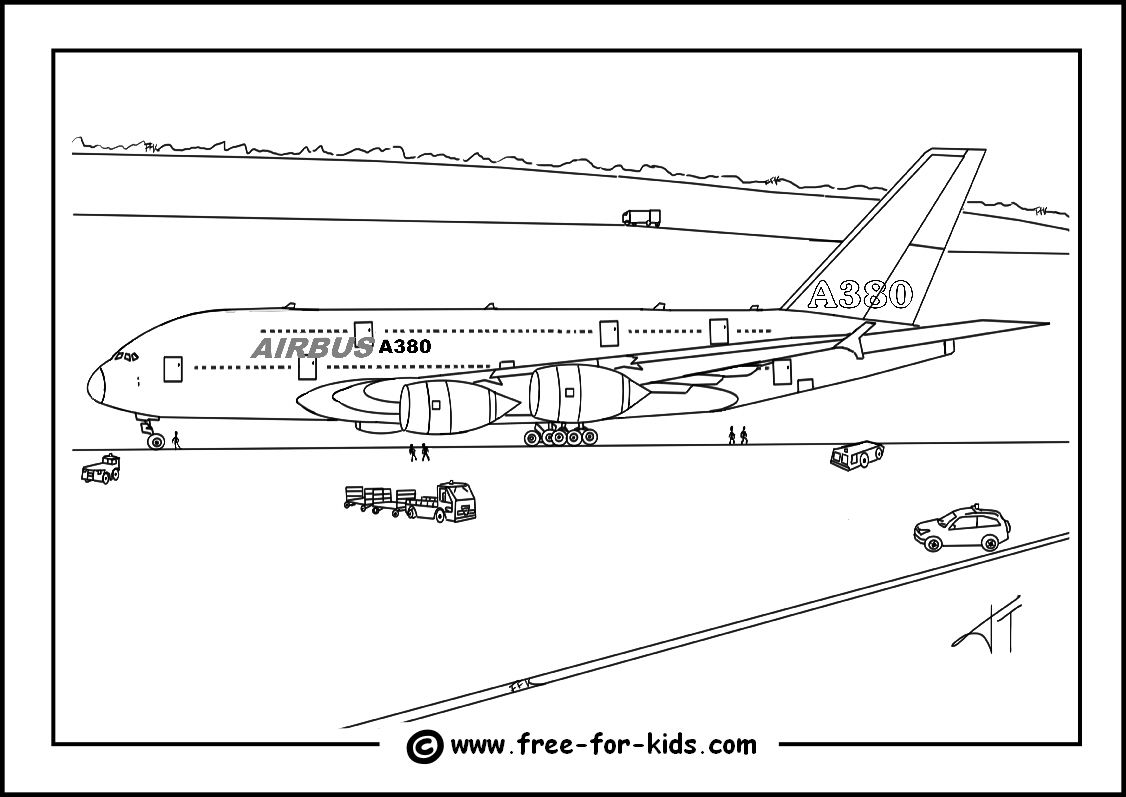 a380 coloring pages airplane coloring pages free printable bw pictures a380 coloring pages
