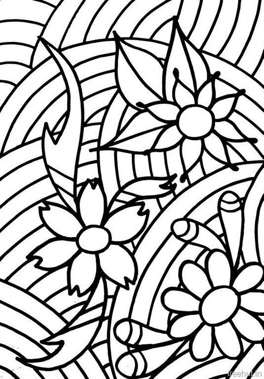 abstract flower coloring pages bouquet of flowers coloring pages flower coloring sheets flower coloring abstract pages