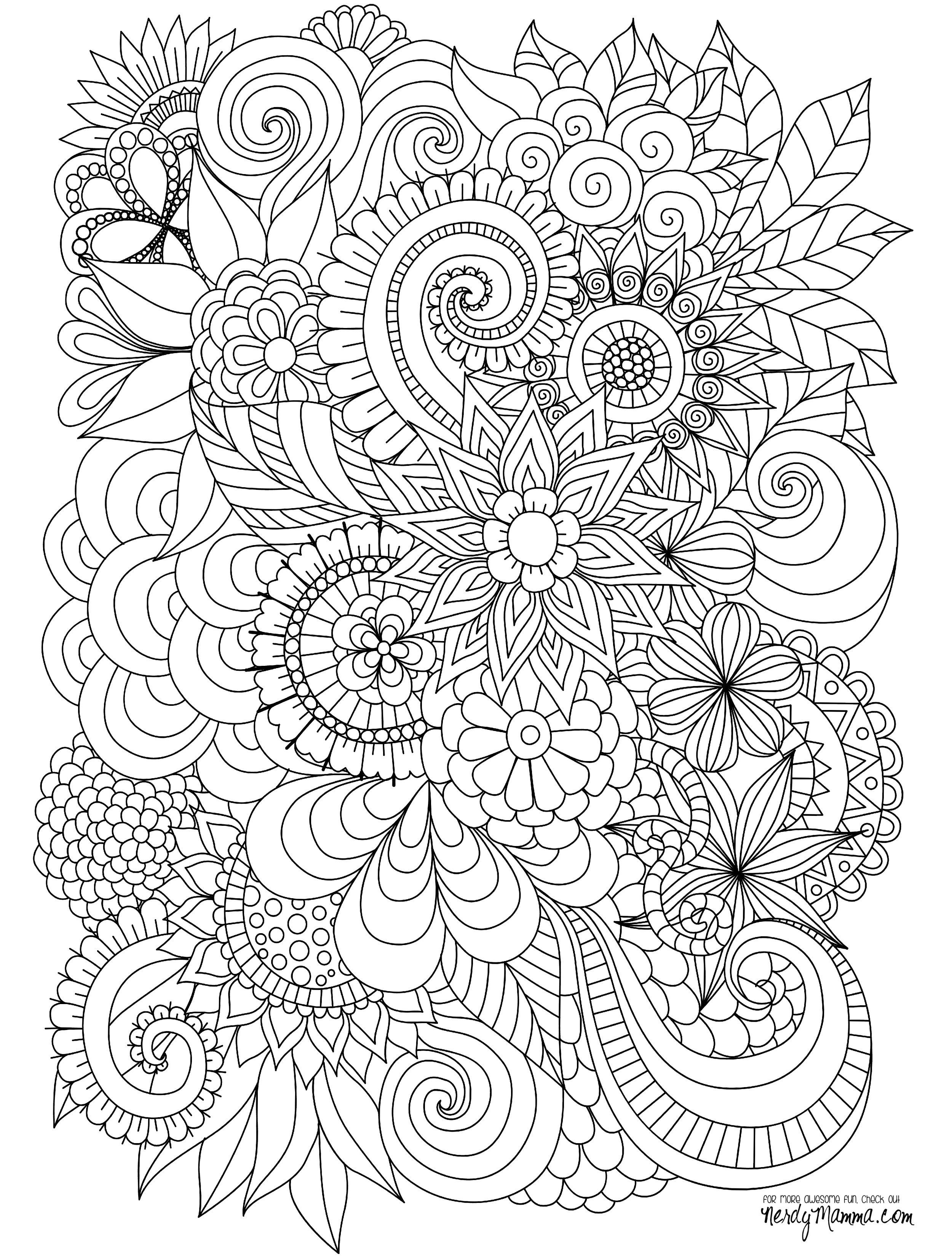 abstract flower coloring pages coloring pages detailed coloring pages for adults coloring abstract pages flower
