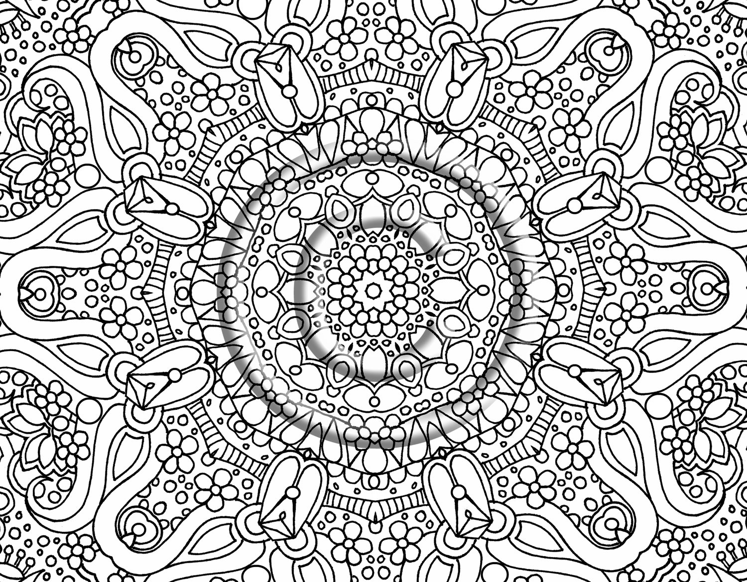 abstract flower coloring pages flowers coloring pages printable flower coloring pages coloring abstract pages flower