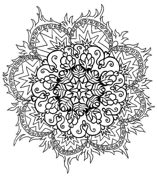 abstract flower coloring pages get this abstract flowers coloring pages for adults 7cv50 pages coloring abstract flower