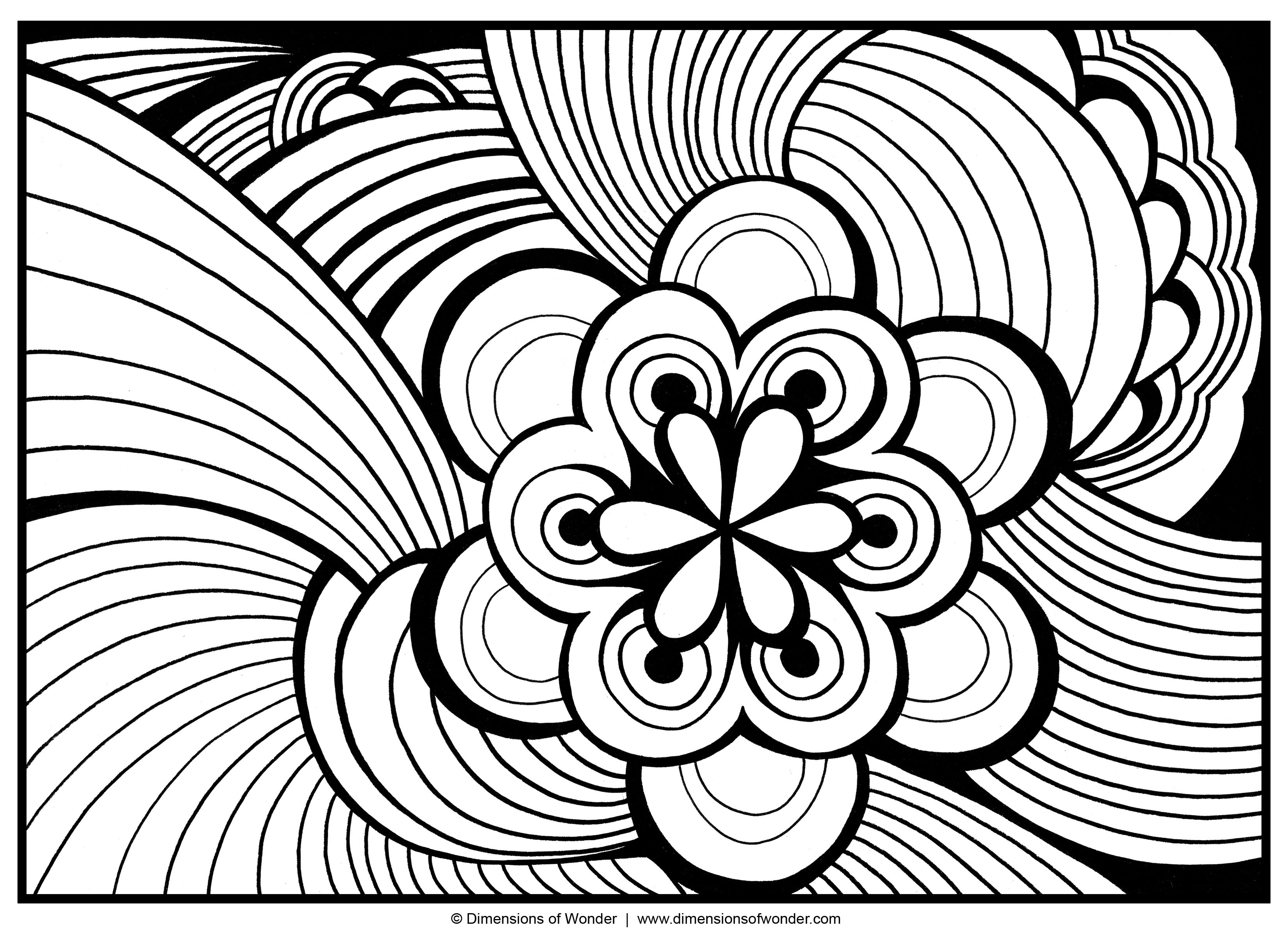 abstract flower coloring pages pin on coloring detailed pages flower abstract coloring