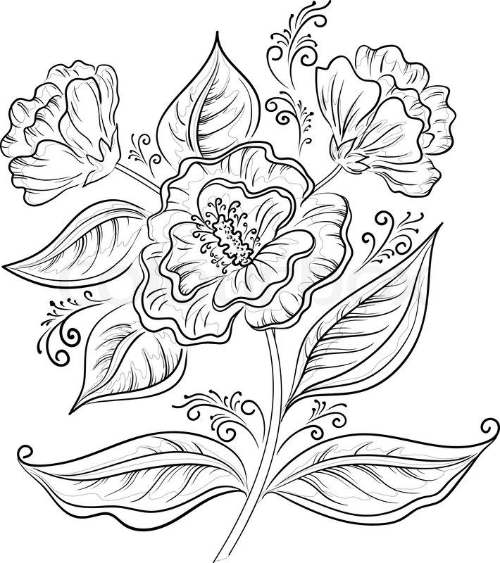 abstract flower coloring pages repeating flower by welshpixie deviantart flower flower coloring abstract pages