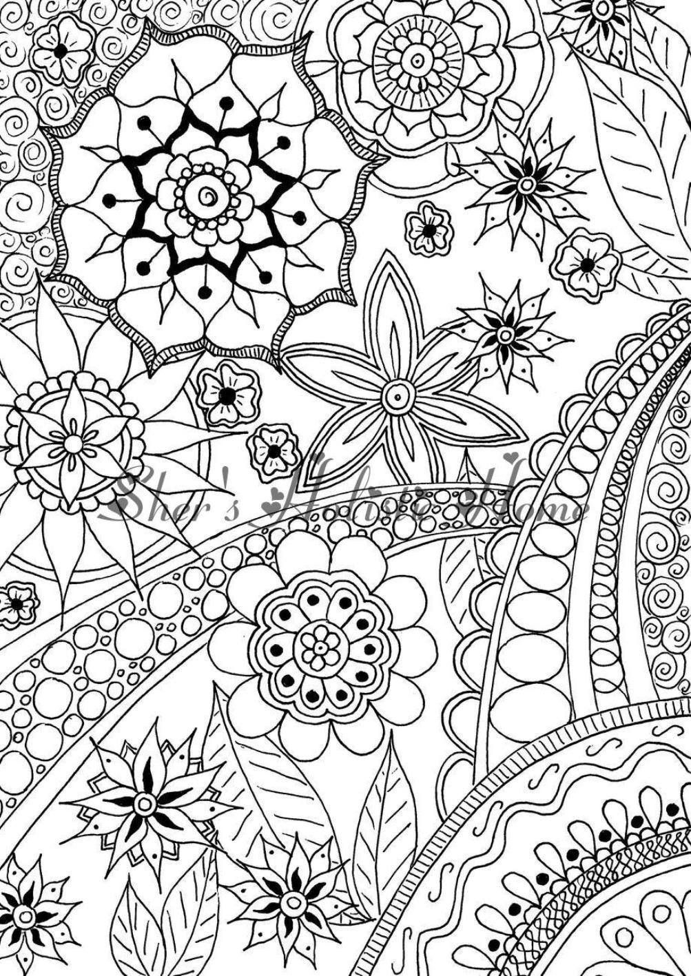 abstract flower coloring pages this is my signature zenspirations flower and it is pages flower abstract coloring
