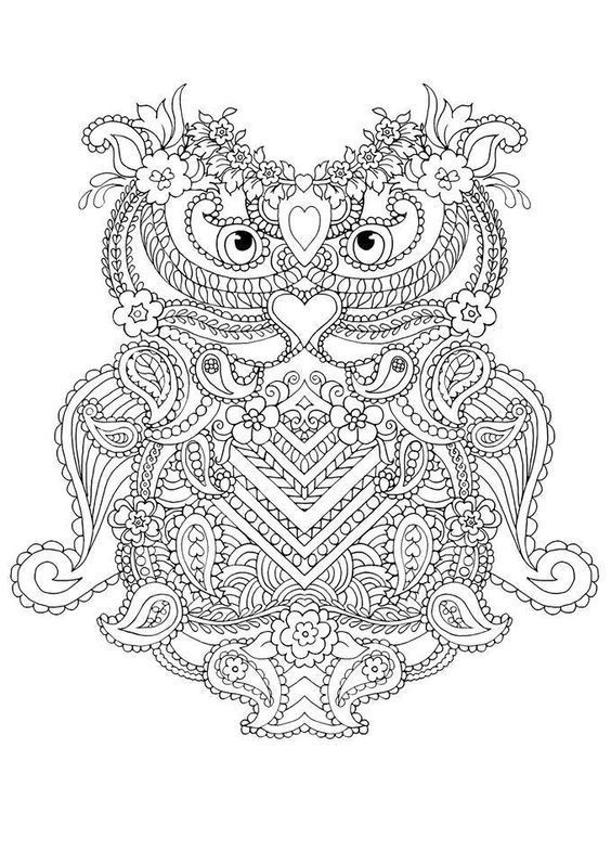 abstract owl coloring pages 10 difficult owl coloring page for adults with images pages coloring owl abstract