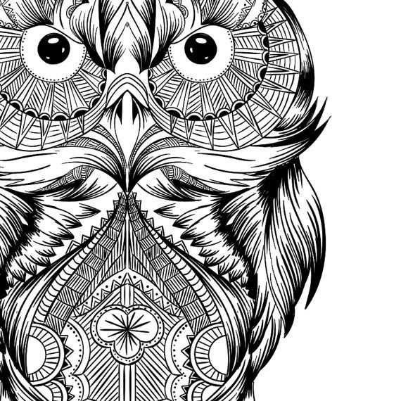 abstract owl coloring pages advanced owl difficult coloring page free printable pages coloring abstract owl