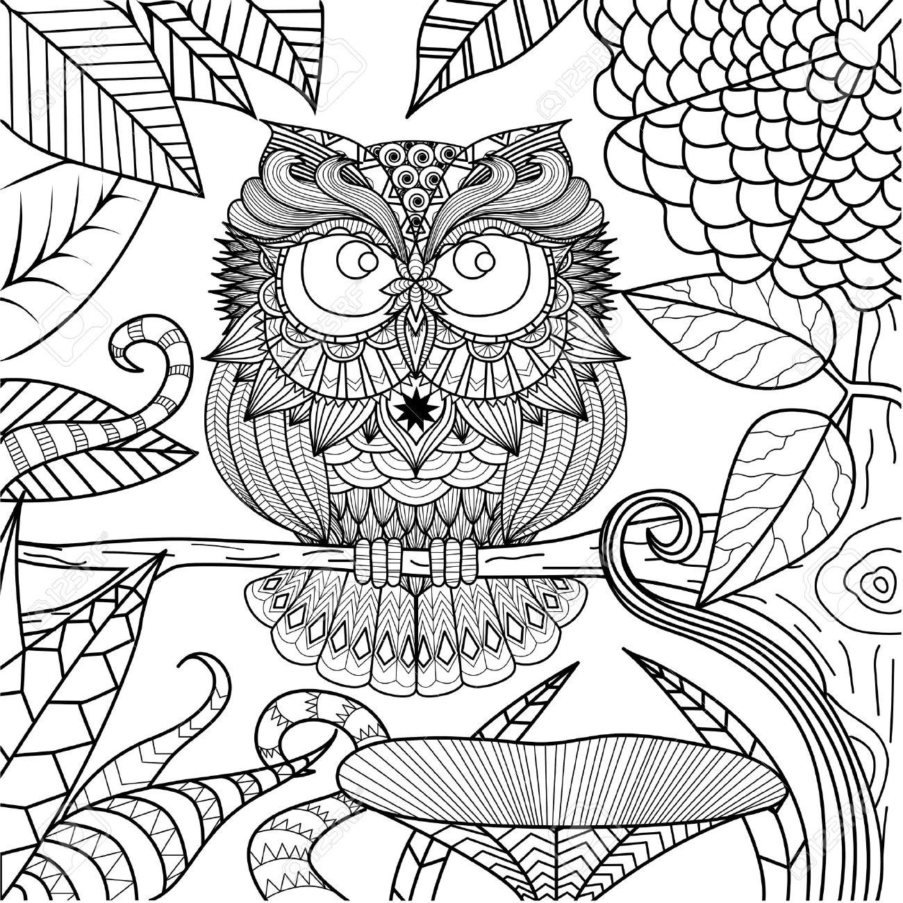 abstract owl coloring pages coloring pages for adults abstract owls owl coloring coloring pages owl abstract