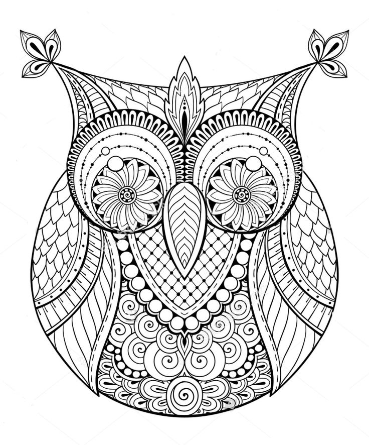 abstract owl coloring pages difficult owl adults printable coloring page free pages owl abstract coloring