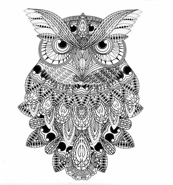 abstract owl coloring pages free 20 abstract coloring pages in ai abstract coloring owl pages