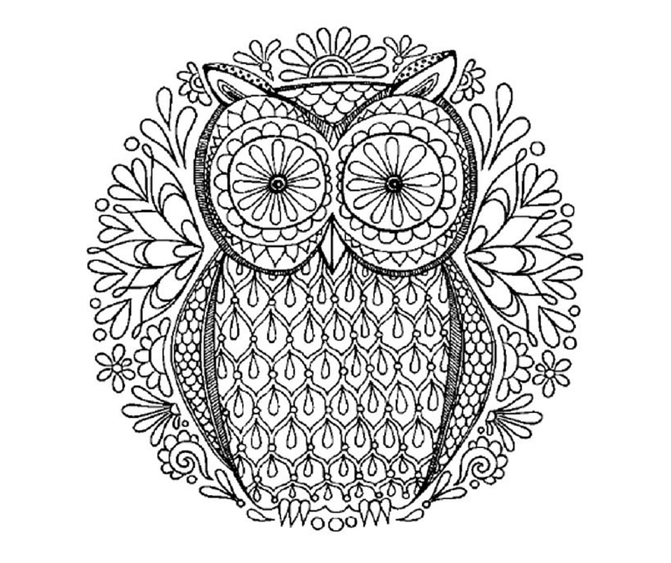 abstract owl coloring pages owl zentangle coloring page owl coloring pages mandala abstract coloring pages owl