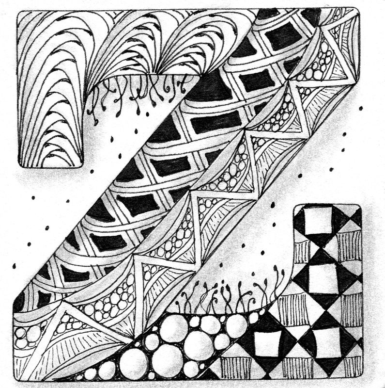 abstract zentangle daily drawing 227 zentangle zentangleart zen zenart zentangle abstract