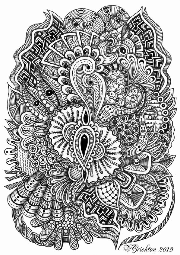 abstract zentangle zentangle made with fine sharpie sharpie fine zentangle abstract