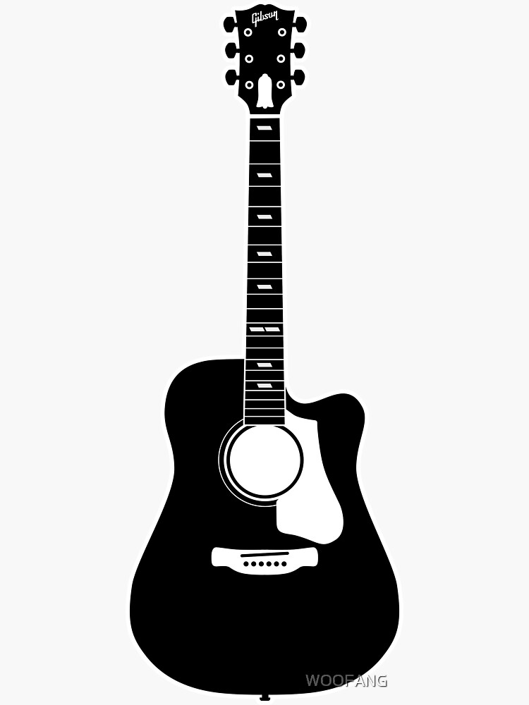 acoustic guitar silhouette acoustic guitar silhouette digital art by bigalbaloo stock acoustic guitar silhouette