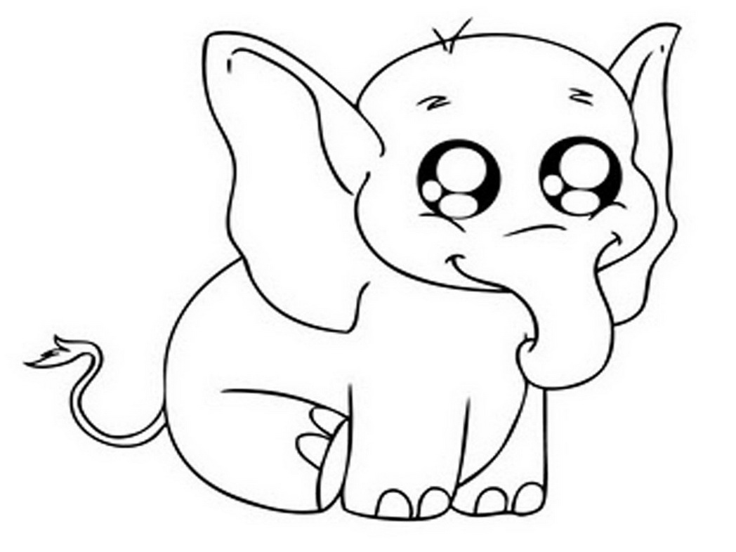adorable baby elephant coloring pages baby elephant cartoon drawing at getdrawings free download coloring baby pages adorable elephant