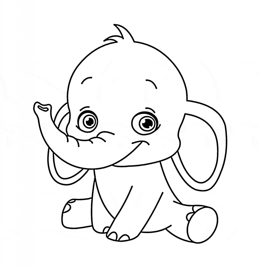adorable baby elephant coloring pages cute baby elephant coloring pages bubakidscom coloring pages adorable baby elephant