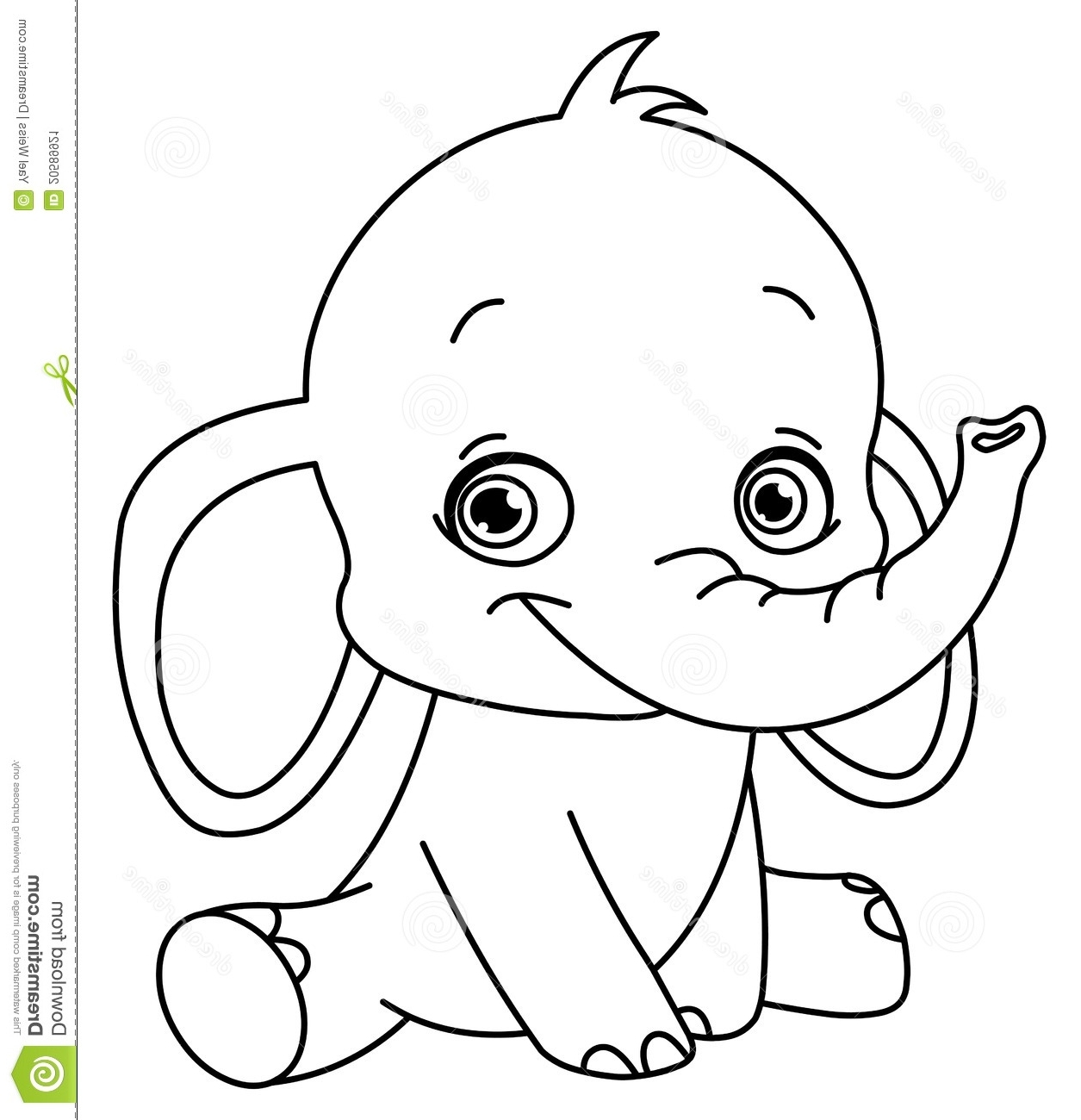 adorable baby elephant coloring pages elephant baby drawing at getdrawings free download baby pages elephant coloring adorable