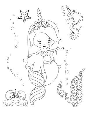 adorable unicorn mermaid coloring pages 54 cute cartoon unicorn coloring pages getcoloringpages adorable pages unicorn coloring mermaid