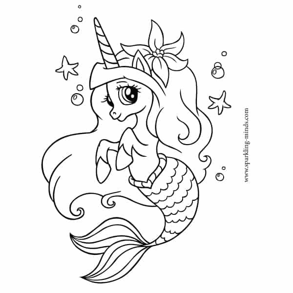 adorable unicorn mermaid coloring pages cute unicorn mermaid coloring page cartoon illustration mermaid coloring adorable pages unicorn