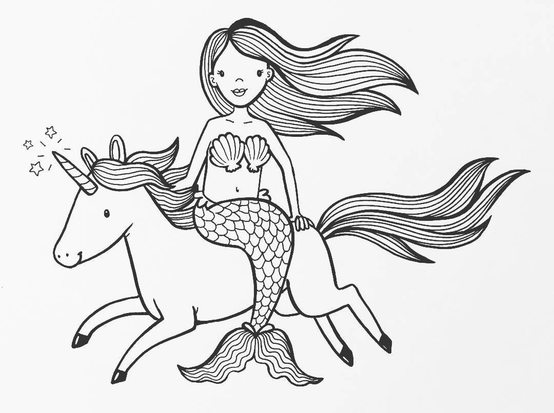 adorable unicorn mermaid coloring pages cute unicorn on a rainbow in 2020 unicorn coloring pages adorable unicorn mermaid coloring pages