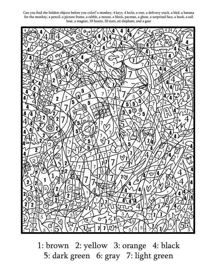 advanced color by number worksheets free printable color by number coloring pages best by worksheets number color advanced