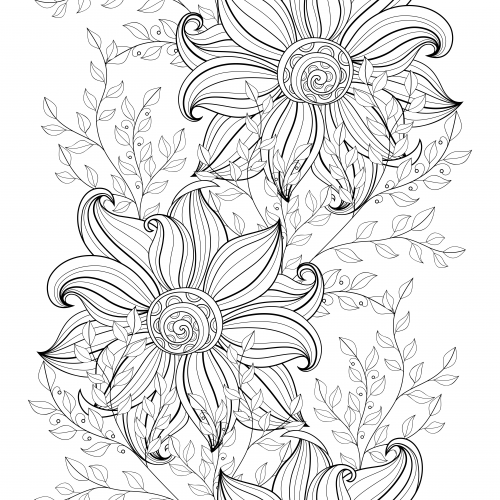 advanced coloring pages flowers advanced flower coloring pages scenery mountains coloring flowers advanced pages