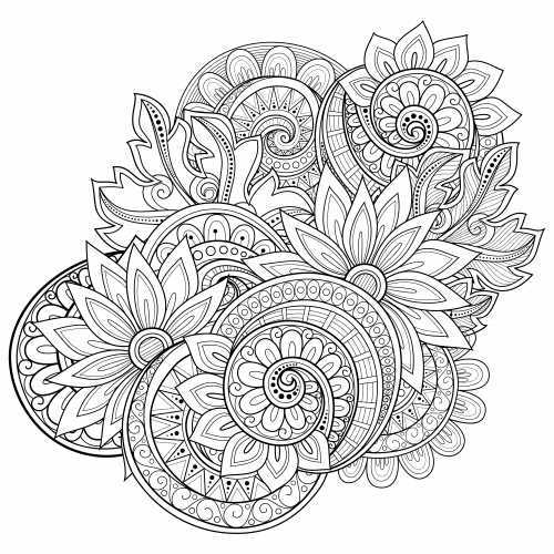 advanced coloring pages flowers color your own great flower paintings coloring book dover pages advanced coloring flowers