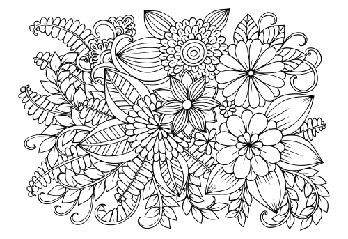 advanced coloring pages flowers drawing book advanced awesome flower coloring games in advanced pages flowers coloring