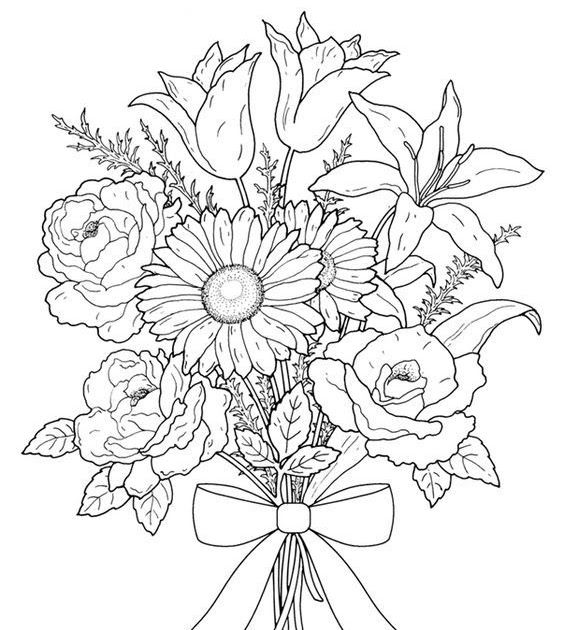 advanced coloring pages flowers flowers advanced coloring pages 19 flower coloring pages coloring flowers pages advanced
