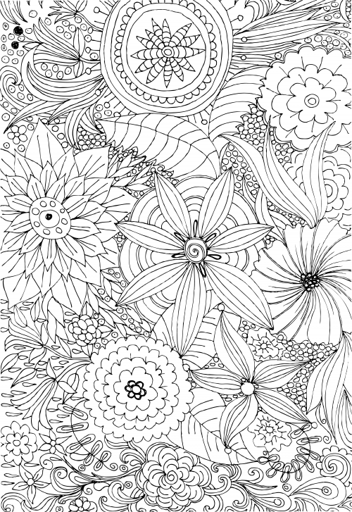 advanced flower coloring pages abstract flower coloring pages at getdrawingscom free flower coloring pages advanced