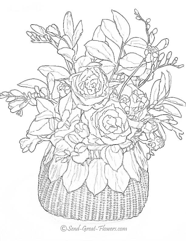 advanced flower coloring pages advanced coloring pages flower coloring page 37 advanced flower pages coloring