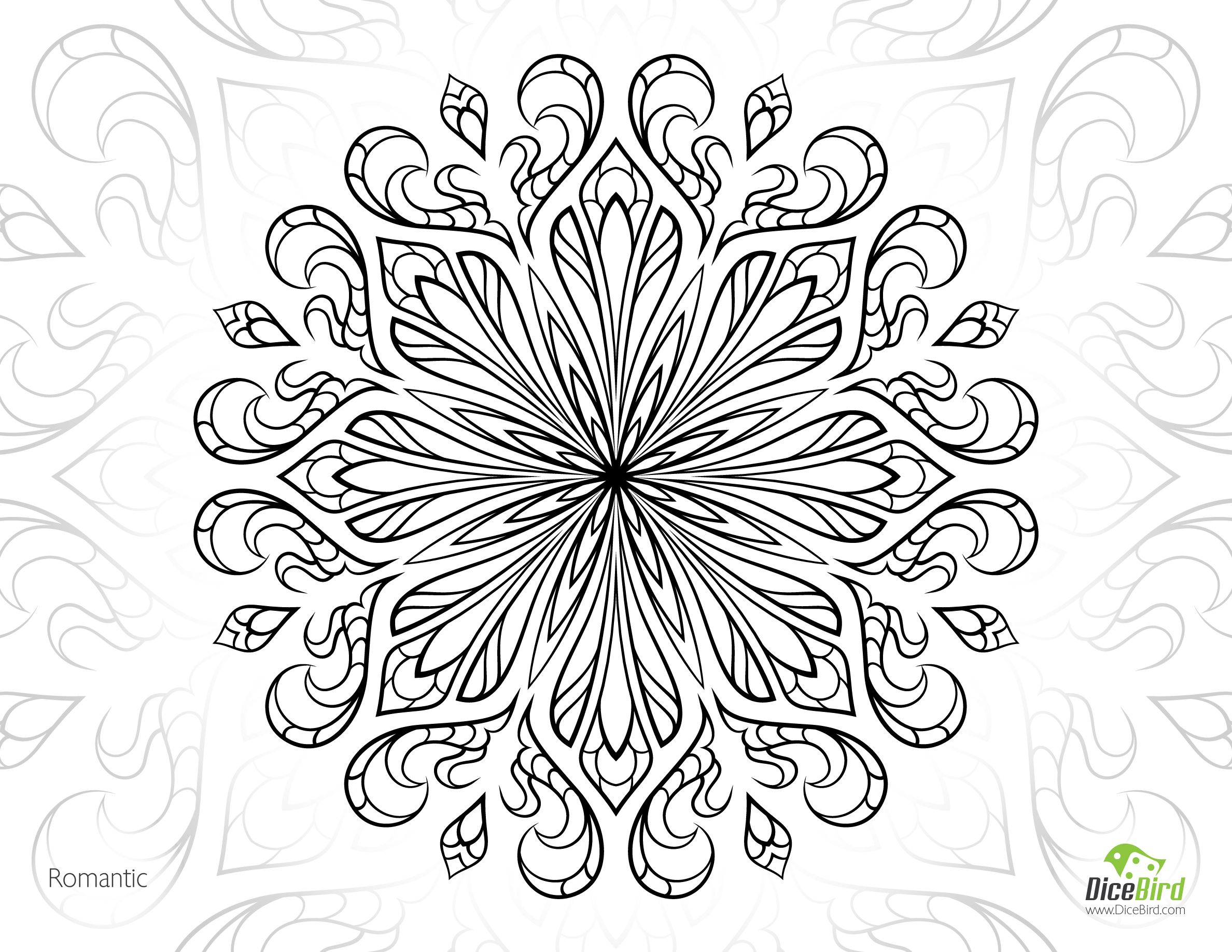advanced flower coloring pages coloring pages flower coloring pages uniquecoloringpages flower advanced coloring pages