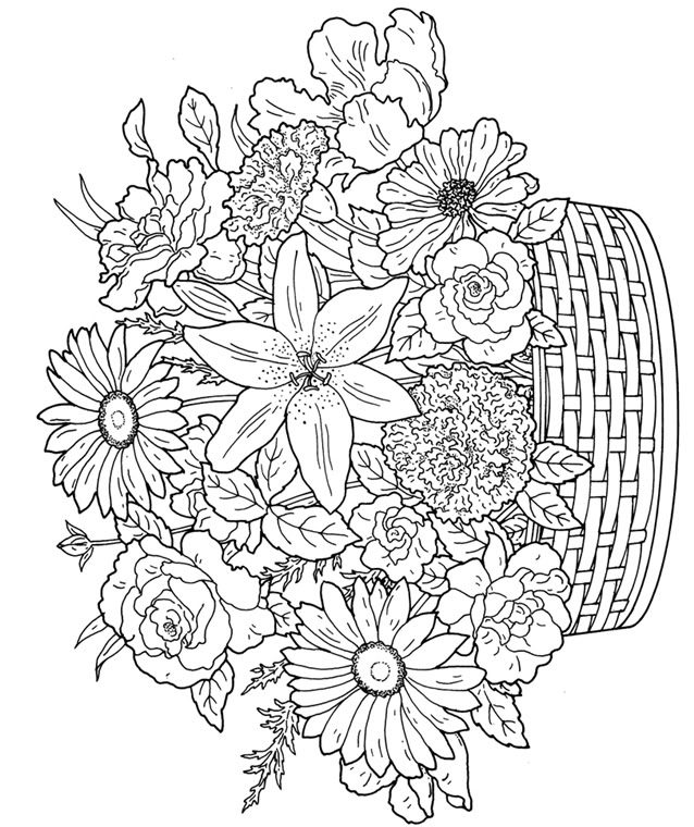 advanced flower coloring pages flowers advanced coloring pages 16 kidspressmagazinecom pages advanced flower coloring